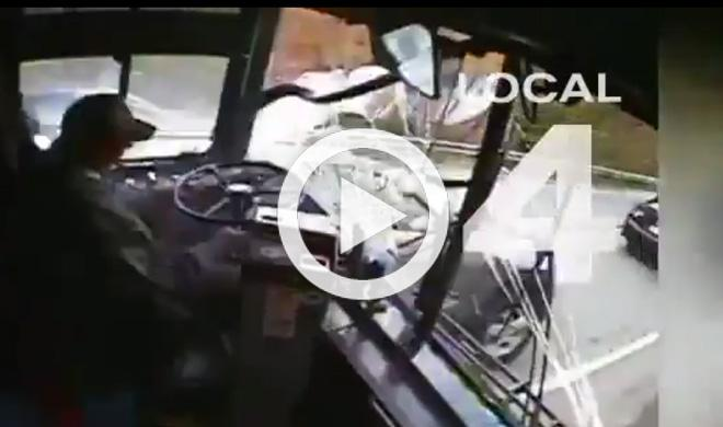 Vídeo: este conductor de autobús se duerme y la lía