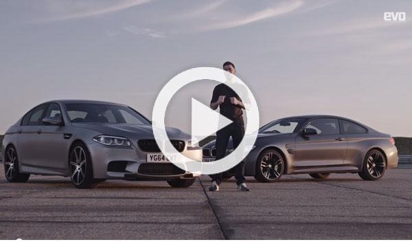 Vídeo: BMW M4 vs. BMW M5