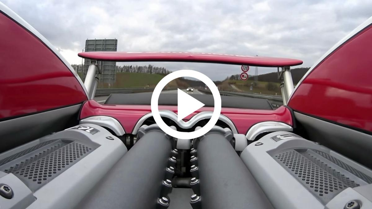 VÍDEO: Dos Bugatti Veyron, una autobahn y sin límites