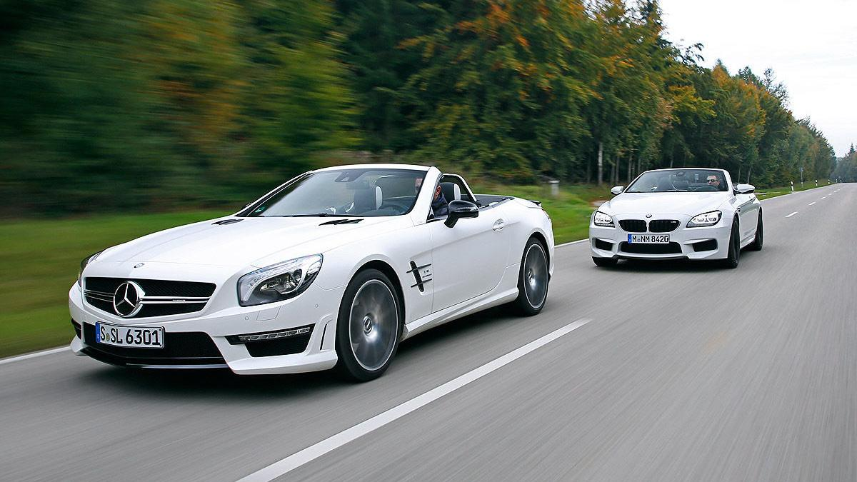BMW M6 Cabrio vs. Mercedes SL 63 AMG