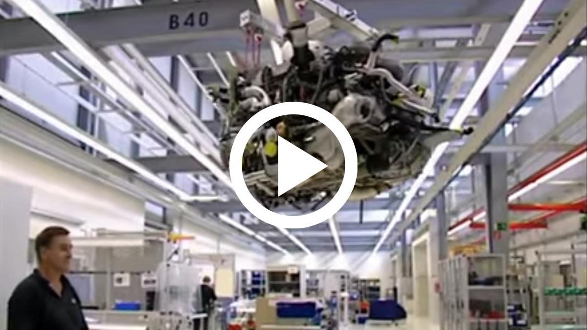 Vídeo: el montaje del motor W16 del Bugatti Veyron