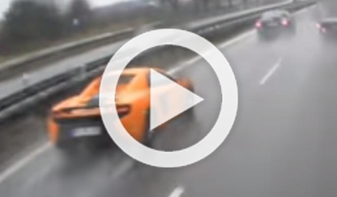 Un McLaren 650S se estrella en una carretera de Polonia