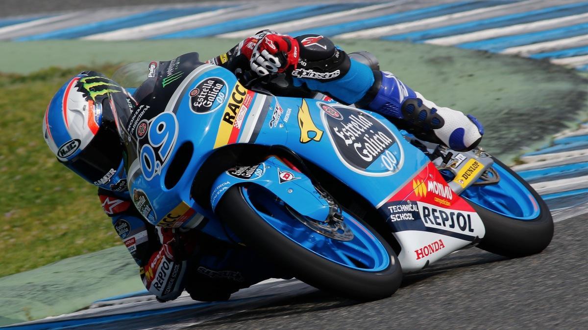 Jorge Navarro, el más rápido de Moto3 en los test de Jerez