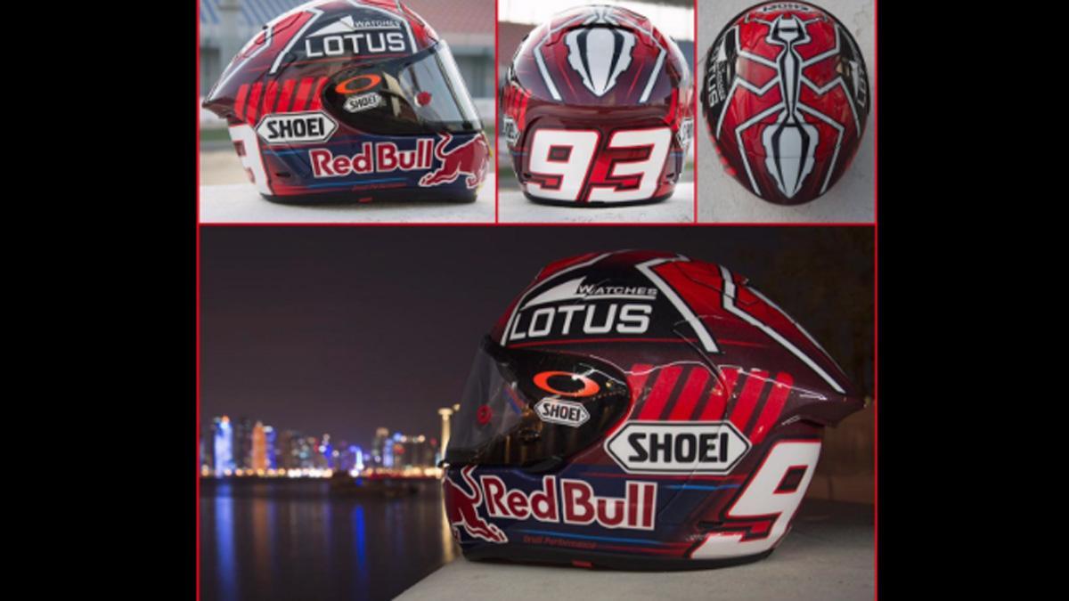 Así es el casco de Marc Marquez para el GP de Catar 2015