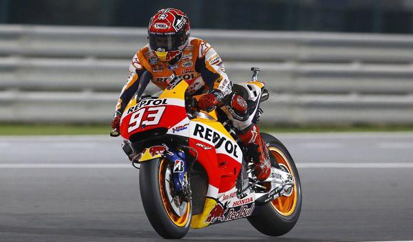 Libres 1 MotoGP GP de Qatar 2015: Marc Márquez, a lo suyo