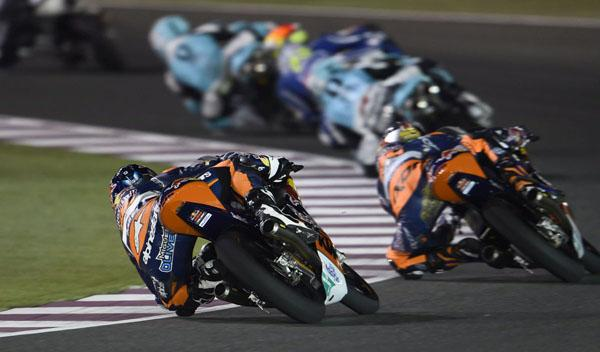 Parilla de salida Moto3 GP de Qatar 2015