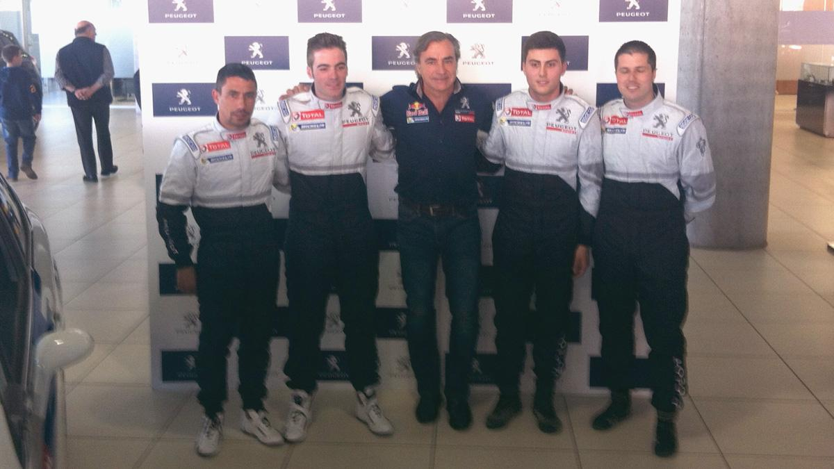 Carlos-Sainz-Pepe-Lopez-Cohete-Suarez-Peugeot-Madrid