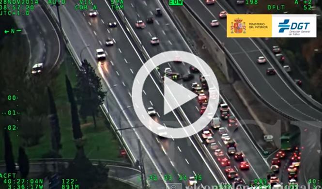 Así se ve el tráfico desde un helicóptero de la DGT