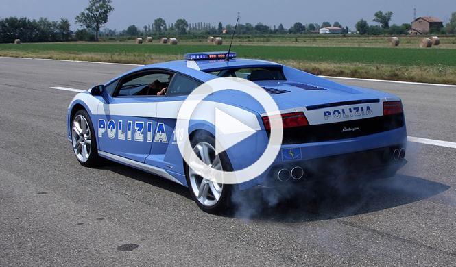 Vídeo: derrapando con el Gallardo de la Policía italiana
