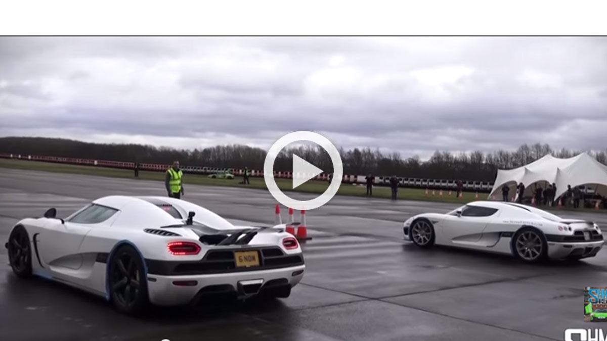 Vídeo: dos Koenigsegg, cara a cara en una 'drag race'