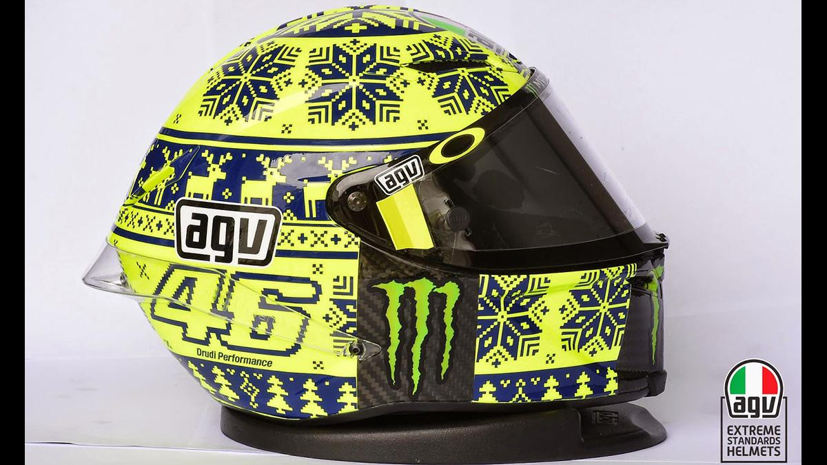 Casco réplica Rossi Winter Test 2015