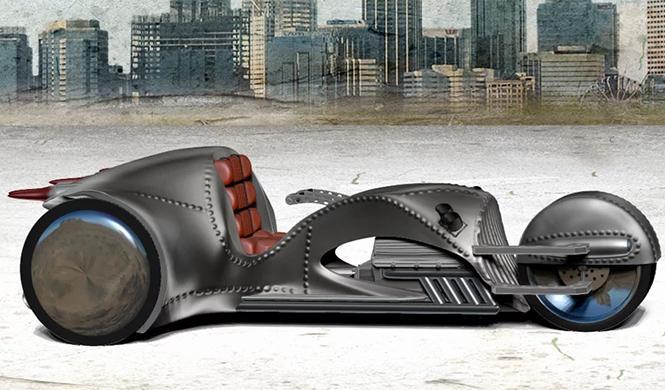 Un trike de superhéroe con motor de 500 CV
