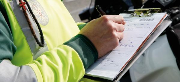 Las multas de tráfico aumentaron casi un 80% en la crisis