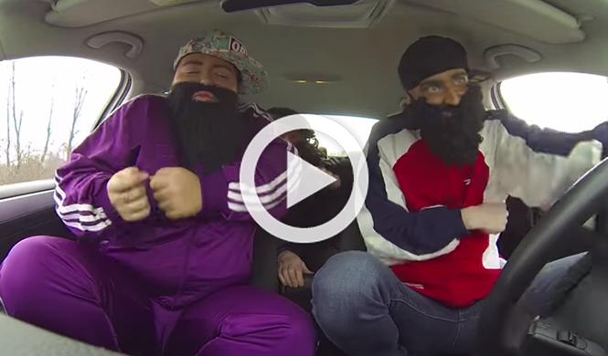 El vídeo más loco que jamás se ha grabado en un coche