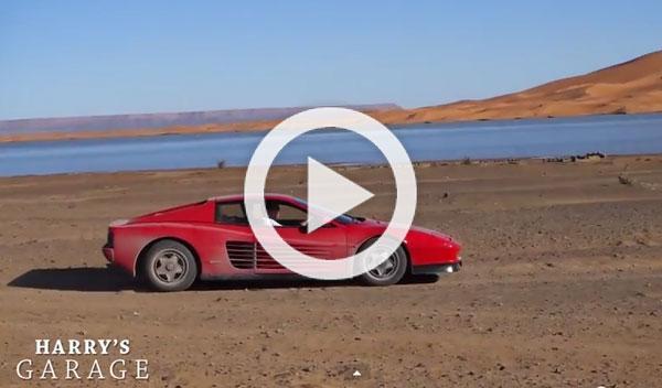 Por el desierto del Sahara con un Ferrari Testarossa