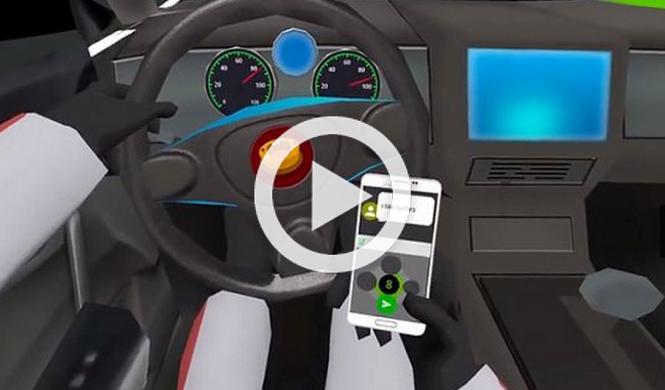 El videojuego que muestra el peligro de chatear al volante