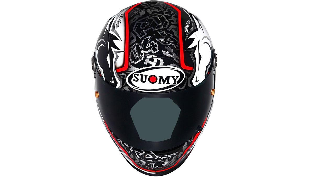 Dovizioso usa un casco muy parecido al nuevo Suomy XR Sport