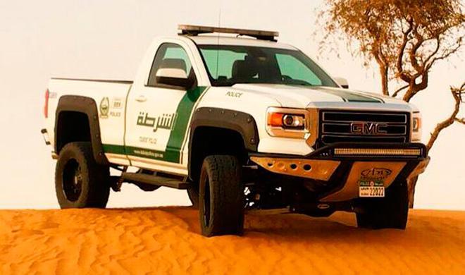 Un GMC Sierra para la Policía de Dubái