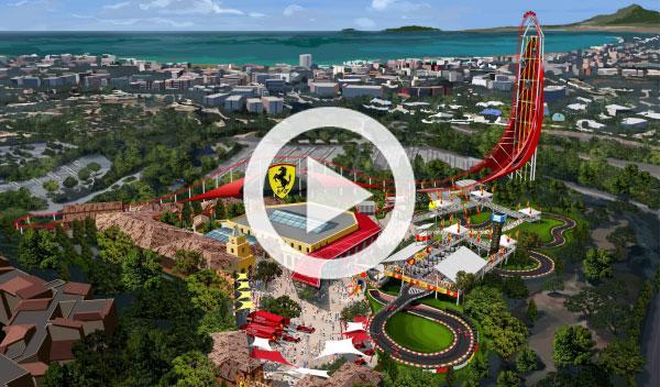 Vídeo: paseo virtual por Ferrari Land, el parque de Ferrari