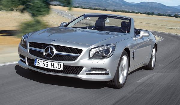 'Restyling' del Mercedes SL: ¡cazado el interior!