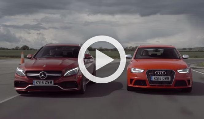 Atención al vídeo: Mercedes AMG C63 vs. Audi RS4