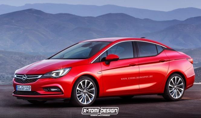 Así sería el Opel Astra Sedán 2016