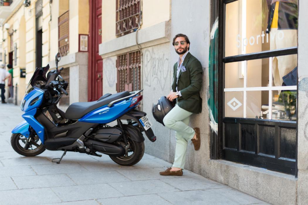 De compras por las mejores tiendas de Madrid con la KYMCO K-XCT