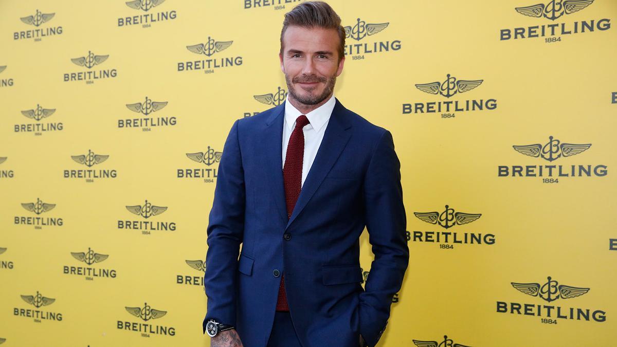 David Beckham en la presentación de la boutique de Breitling