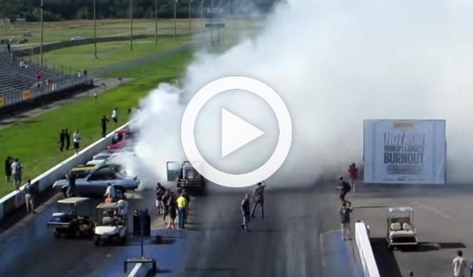 Nuevo récord: 114 coches queman rueda al mismo tiempo