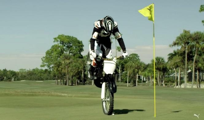 Vídeo: Golf en moto de la mano de Rickie Fowler