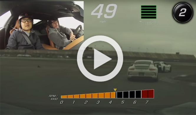 Un Corvette Z06 se la juega intentando superar a un 911 GT3