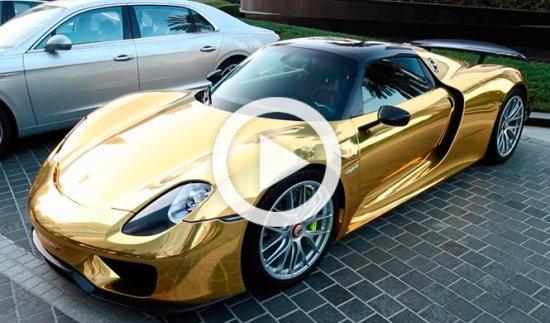 ¿Te imaginas un Porsche bañado en oro puro?