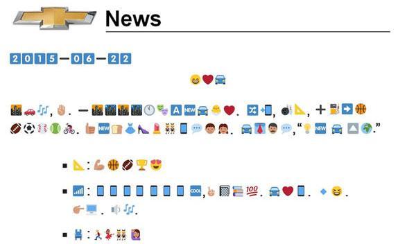 Lo que nos faltaba: así se describe un coche con emoticonos