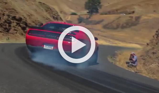 Así derrapa Top Gear con el Challenger Hellcat de 716 CV