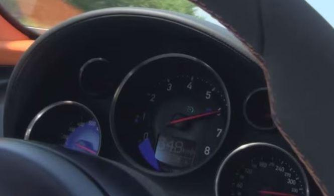 A 350 km/h con un Bugatti Veyron Vitesse en la Autobahn