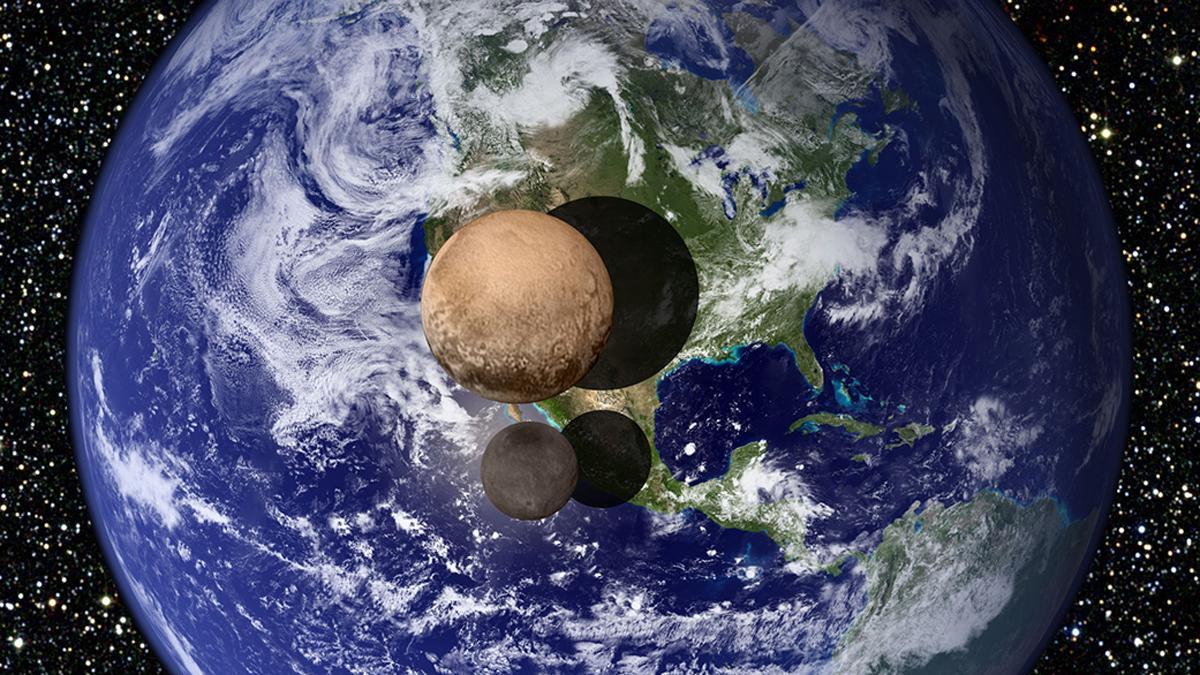 la tierra New Horizons y Plutón