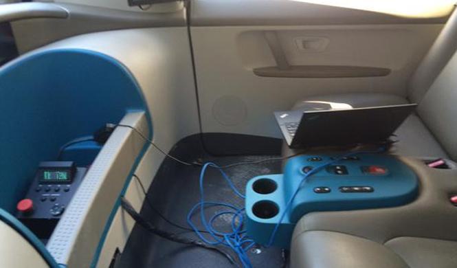 ¡Cazado el interior del coche de Google!