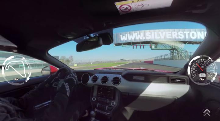 Cámara interior  video interactivo Ford Mustang V8 5.0 en Silverstone
