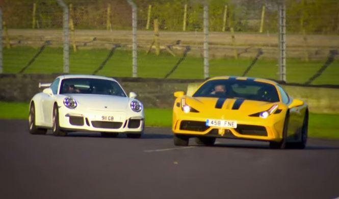 Ferrari 458 Speciale vs Porsche 911 GT3, a cara de perro