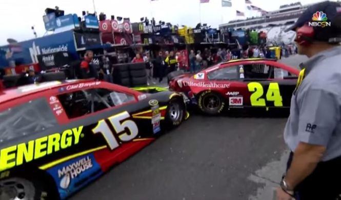 El choque más tonto en boxes de la NASCAR