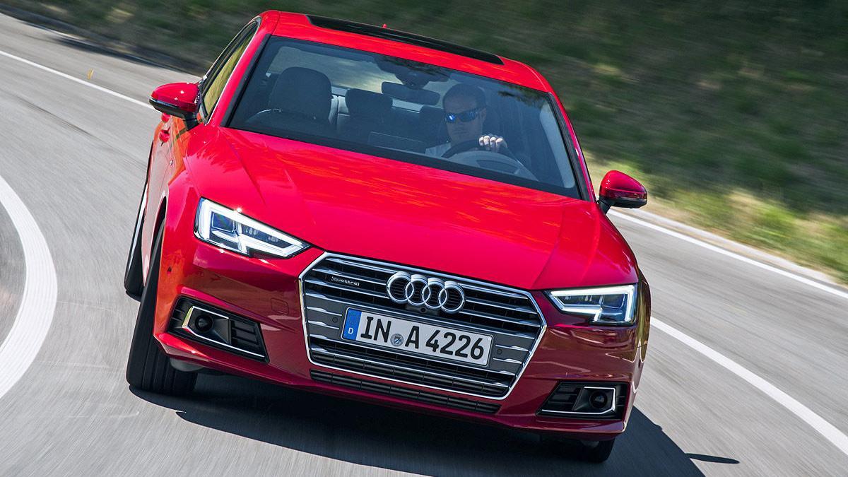 Prueba: Audi A4 2015 3 cuartos dinámica parrilla