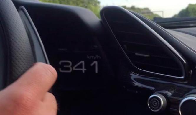 Vídeo: el Ferrari 488 GTB, a 341 km/h por la Autobahn