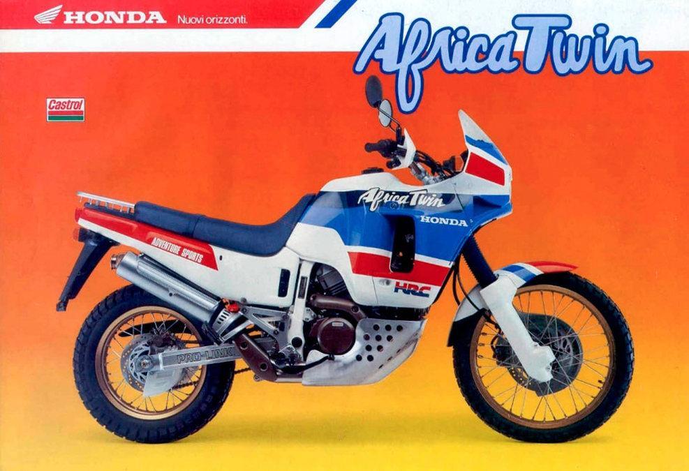 Honda Africa Twin catálogo años 80