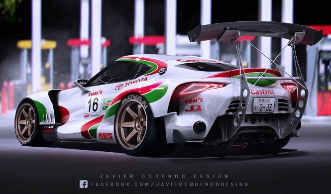 Tom´s Castrol Toyota FT-1 Super GT, ¡impresionante!