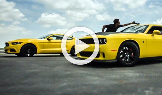 El Mustang de Hennessey se enfrenta al Challenger Hellcat