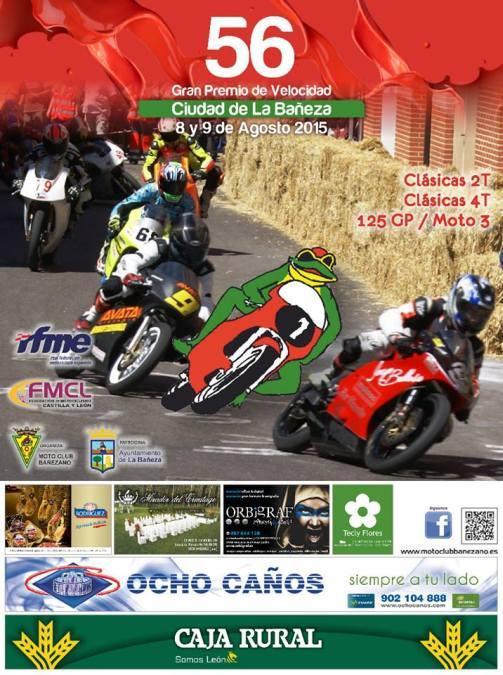 Gran Premio de motos clásicas en La Bañeza Cartel de este año.