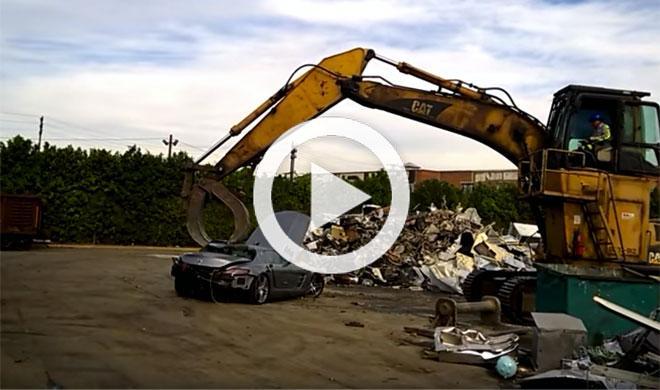 Este Mercedes SLS AMG ha acabado triturado