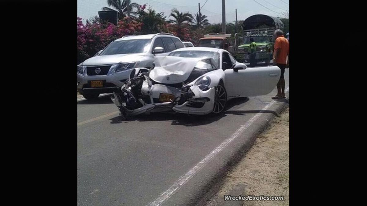 porsche 911 accidente