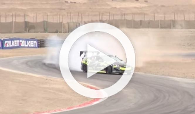 Rueda quemada en el Campeonato Nacional Toyota Drifting