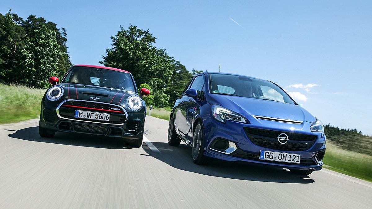 Comparativa: Mini John Cooper Works contra Opel Corsa OPC